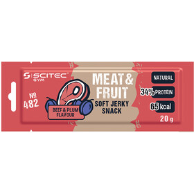 SCITEC High Protein Snack Box 25x20g, MEAT & FRUIT Plum